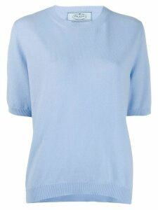 Prada relaxed knitted top - Blue
