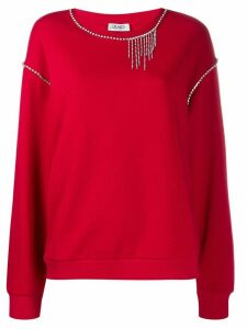 LIU JO crystal-embellished jumper - Red