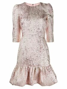 Dolce & Gabbana lamé jacquard short dress - PINK
