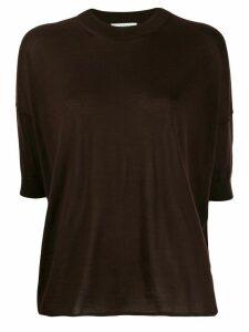 Jil Sander dropped-shoulder knitted top - Brown