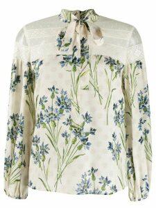 RedValentino floral print blouse - NEUTRALS