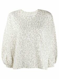 Rebecca Minkoff leopard rosie sweatshirt - NEUTRALS