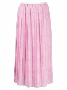 See by Chloé graphic pleated skirt - PINK