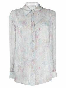 See By Chloé sheer floral-print shirt - Grey