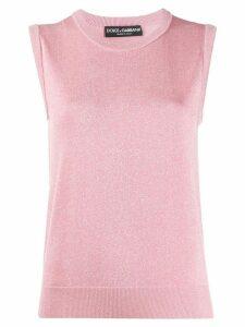 Dolce & Gabbana glitter effect sleeveless jumper - PINK