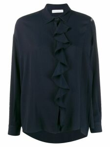 Fabiana Filippi relaxed fit ruffle detail blouse - Blue