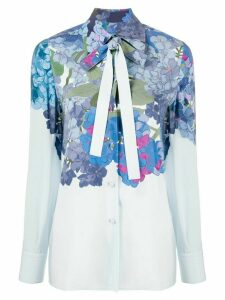 Valentino floral print blouse - Blue