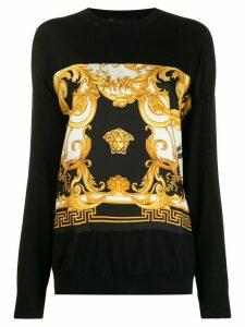 Versace Barocco Rodeo print jumper - Black