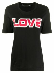Love Moschino love logo print T-shirt - Black