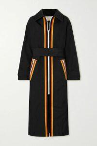 Stella McCartney - Asymmetric Bow-detailed Silk Crepe De Chine Maxi Dress - Navy