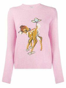 Miu Miu Bambi motif jumper - PINK