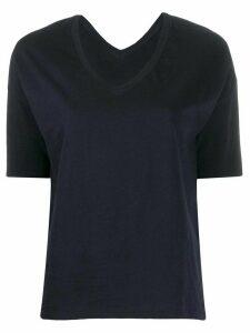 Closed V-neck T-shirt - Blue
