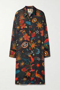 McQ Alexander McQueen - Floral-print Crepe De Chine Shirt - Bright pink
