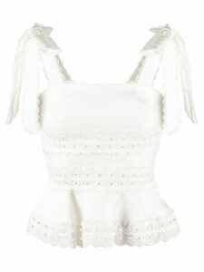 Zimmermann broderie anglaise top - White