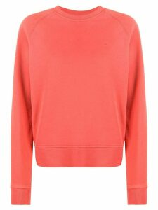 Calvin Klein embroidered logo cotton sweatshirt - PINK