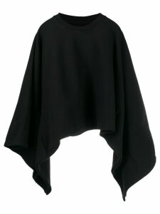 Mm6 Maison Margiela asymmetric hem cropped sweatshirt - Black