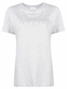 Calvin Klein logo print cotton T-shirt - Grey