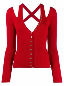 Versace Jeans Couture knitted top - Red