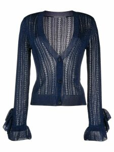 Marco De Vincenzo knitted cardigan - Blue