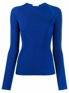 Helmut Lang stretch raglan jumper - Blue