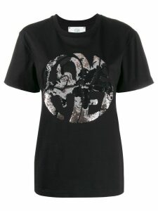 Alberta Ferretti Love Me embellished T-shirt - Black