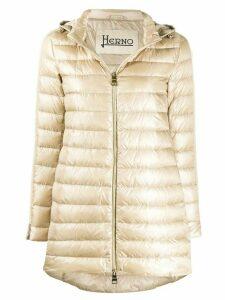 Herno long puffer jacket - NEUTRALS