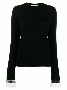 Philosophy Di Lorenzo Serafini broderie anglaise trim jumper - Black