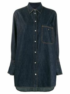 Valentino oversized denim shirt - Blue