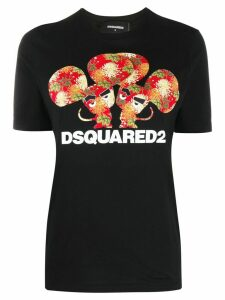 Dsquared2 printed detail T-shirt - Black