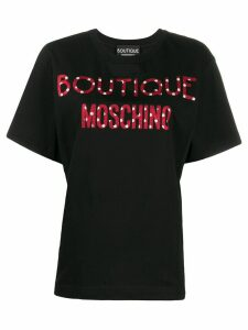 Boutique Moschino cartoon logo-print T-shirt - Black