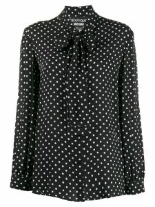 Boutique Moschino polka dot blouse - Black