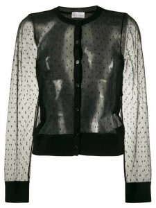 RedValentino short point d'esprit cardigan - Black