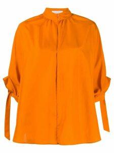 Christian Wijnants silk tie cuff buttoned blouse - ORANGE