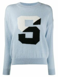 Sandro Paris S print jumper - Blue