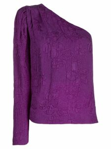 Stella McCartney floral brocade blouse - PURPLE