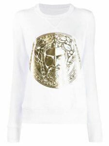 Versace Jeans Couture logo sweatshirt - White