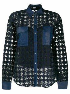 Karl Lagerfeld Burn out denim blouse - Black