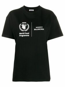 Balenciaga World Food Programme print T-shirt - Black