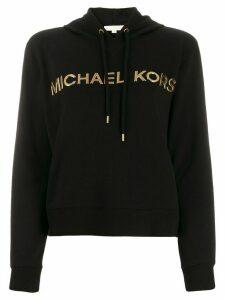 Michael Michael Kors metallic logo hoodie - Black
