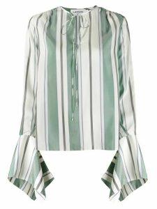 LANVIN awning stripe blouse - Green