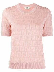 Fendi FF motif knitted top - PINK