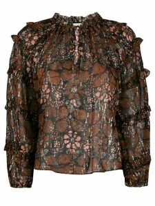 Ulla Johnson floral print blouse - Brown