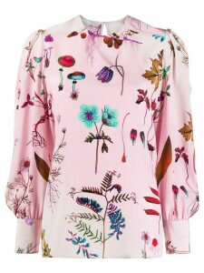 Stella McCartney floral print silk blouse - PINK