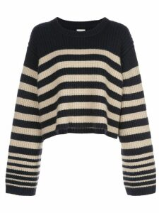 Khaite Dotty striped relaxed-fit jumper - Blue