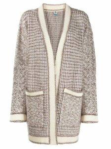 M Missoni geometric intarsia loose-fit cardigan - White