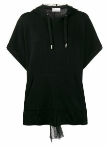 RedValentino point d'esprit hood jumper - Black
