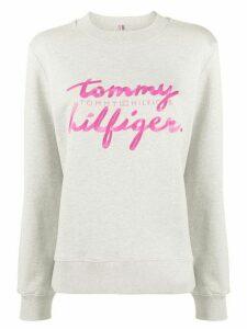 Tommy Hilfiger logo print sweatshirt - Grey