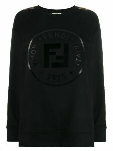 Fendi logo tape sweatshirt - Black