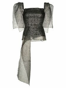 Roland Mouret Starling asymmetric top - Metallic