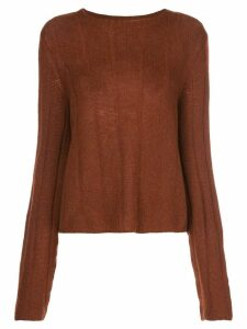 Khaite Nelley ribbed relaxed-fit jumper - Brown